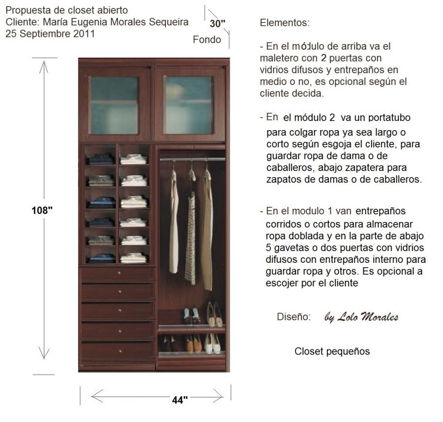 Propuesta closet pequeño abierto 250911  Muebles Lolo Morales