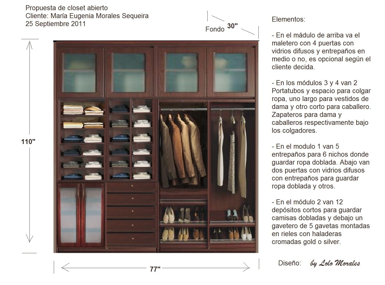 Propuesta Master Closet Abierto 250911 Muebles Lolo Morales  # Muebles Lolo Morales