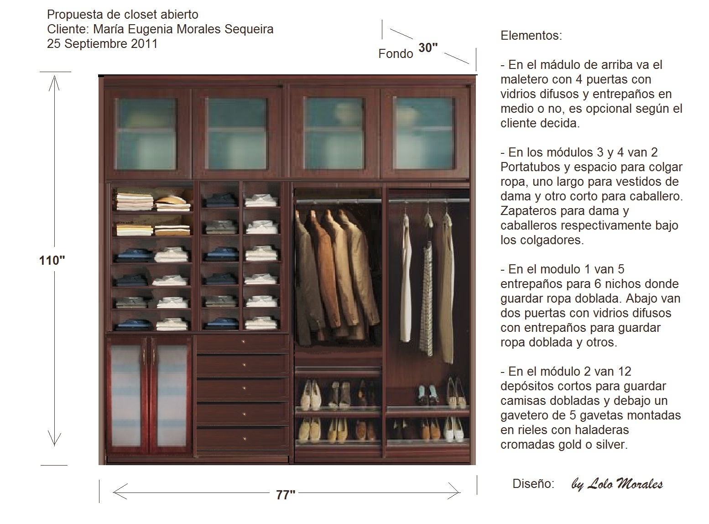 Propuesta De Master Closet Abierto 250911 Muebles Lolo Morales Nicaragua Custom Furniture