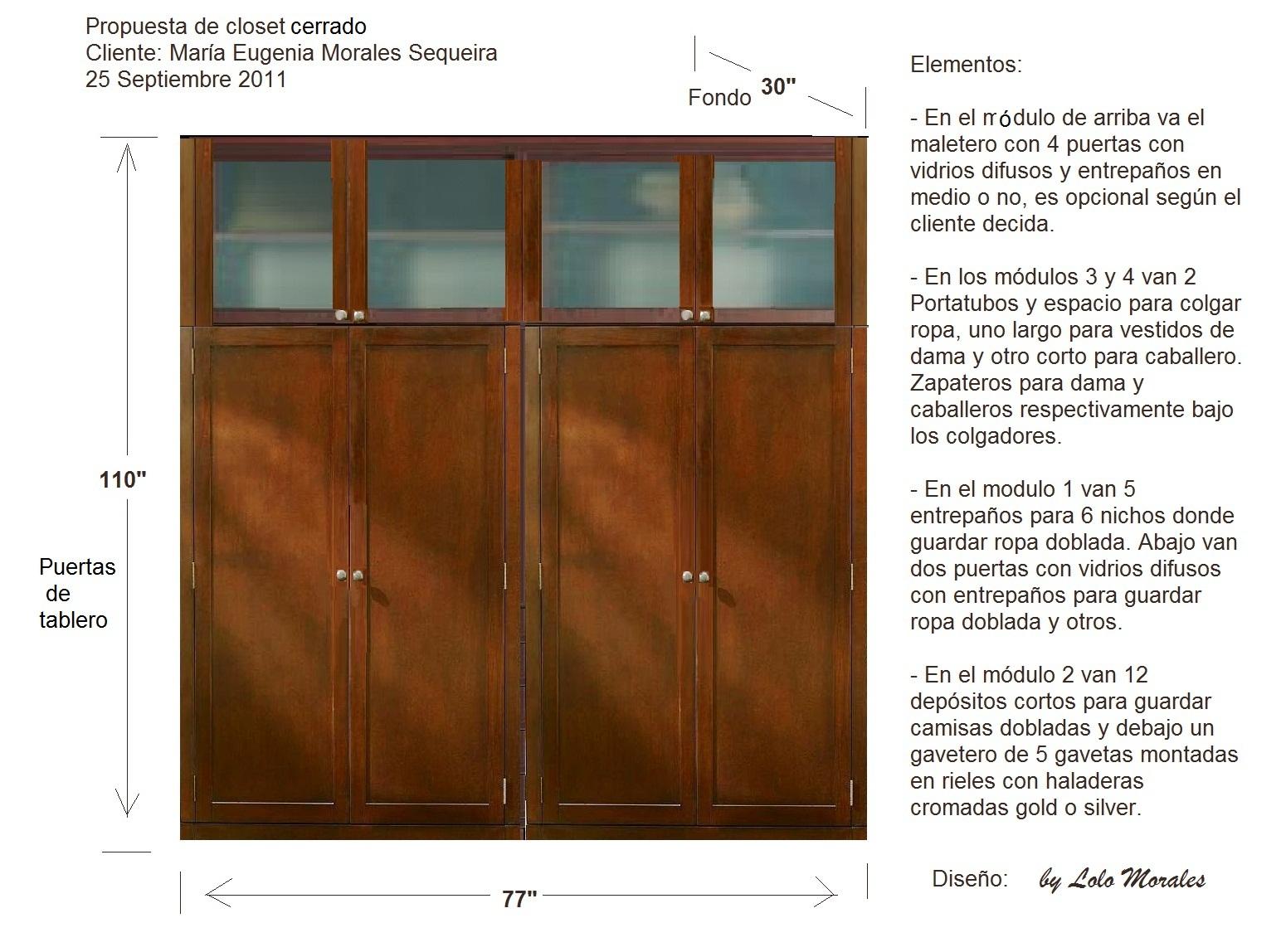Propuesta De Master Closet Cerrado 250911 Muebles Lolo Morales  # Muebles Lolo Morales