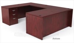 Auburn wood veneer desk